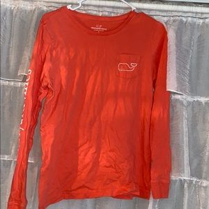 Orange Vineyard Vines long sleeve tee